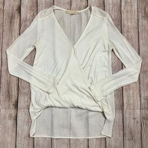 Everleigh contrasting draped top
